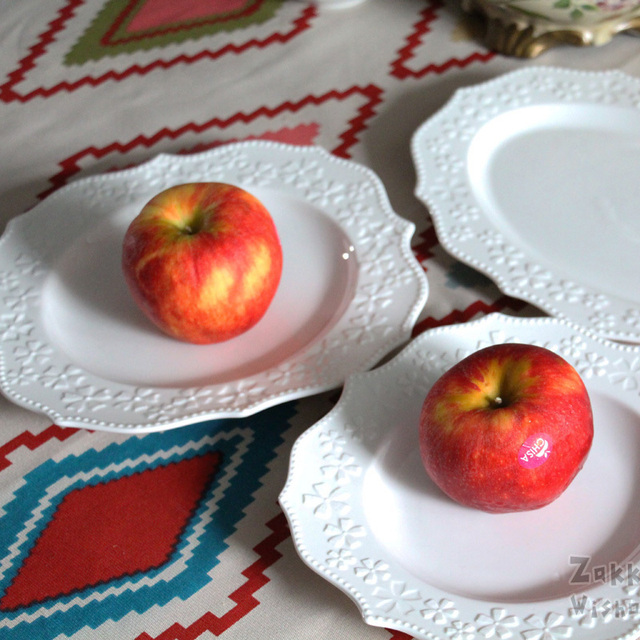 2 pezzi/lottp) KEYAMA splendidamente cherry rilievo bianco piatto ...