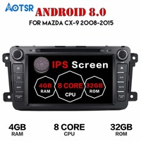 2 Din Android 8.0 For Mazda CX9 CX 9 Car DVD Player 8 GPS Navigation 4G+32G Phone Link Bluetooth RDS Car Radio Fast Boot wifi