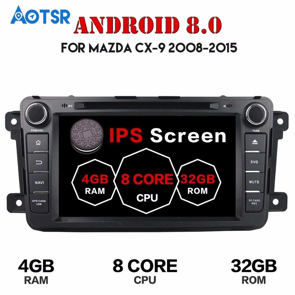 2 Din Android 8.0 Pour Mazda CX9 CX-9 Voiture DVD Lecteur 8 GPS Navigation 4g + 32g téléphone Lien Bluetooth RDS Autoradio Démarrage Rapide wifi