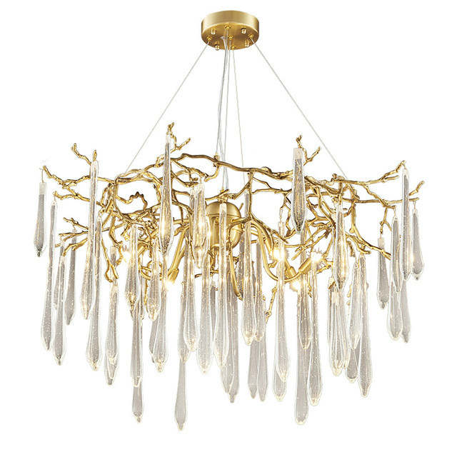 Modern Contemporary Chandeliers Gold Chandelier Lights For Kitchen Copper China Lighting Fixtures Living Room