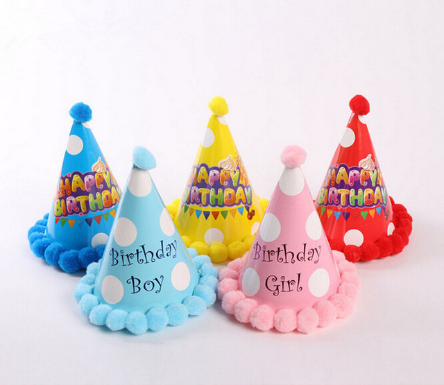 Fashion Birthday Hat Baby Love Happy Letter Party Decoration Festive