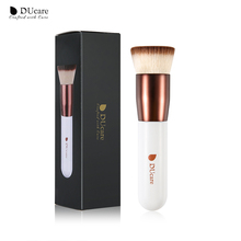 DUcare 1PCS Brand make up brushes  Professional Kabuki Flat Top Foundation Brushes Wooden Handle Cosmetics face Makeup Tools