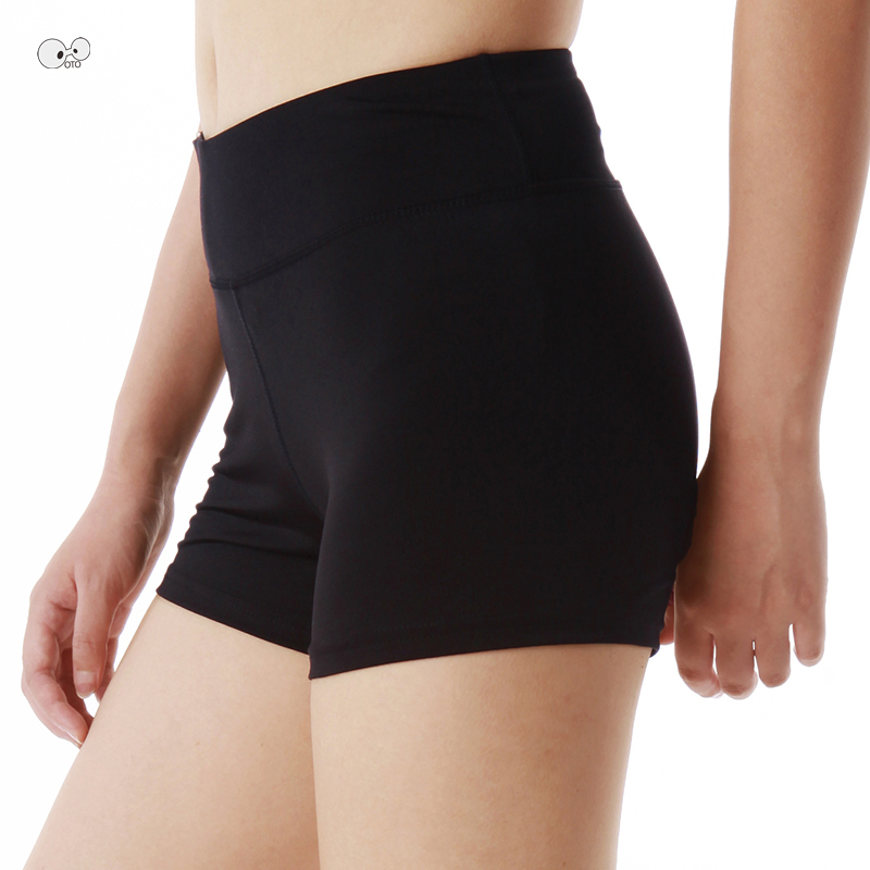 Sexy Yoga Shorts Solid Breathable Elastic High Waist