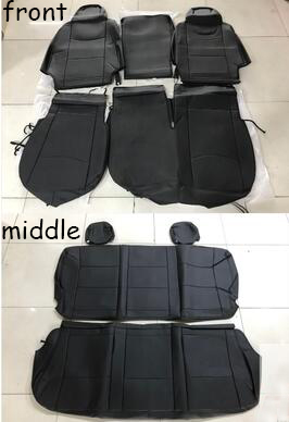 For HIACE Seat Cover 200 series2005-17 Front Middle Row Seat Cushion