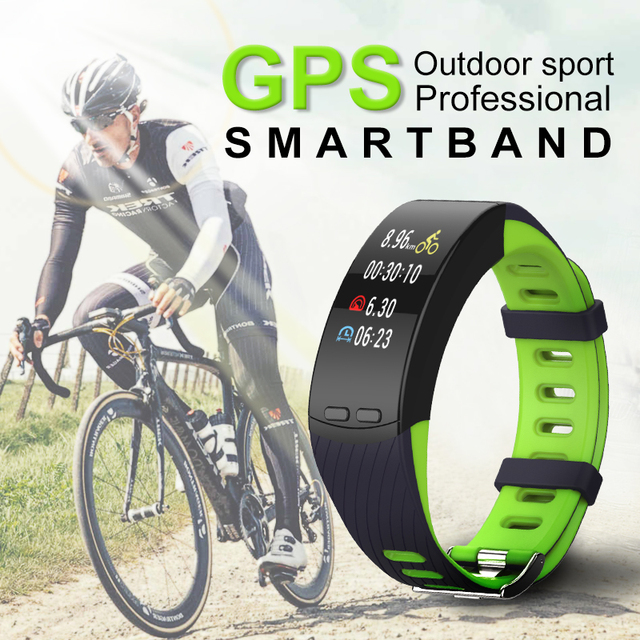 GPS Sport Smart Band H5 Plus Professional Outdoor Bracelet Heart Rate Monitor Altitude Barometer Activity Fitness Tracker 200mAh