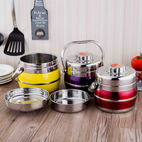 1.4L/1.8L Stainless Steel Lunch Box Vacuum Thermo Thermal Portable Food Container Metal Set Picnic Bento Box Kids Adult Lunchbox