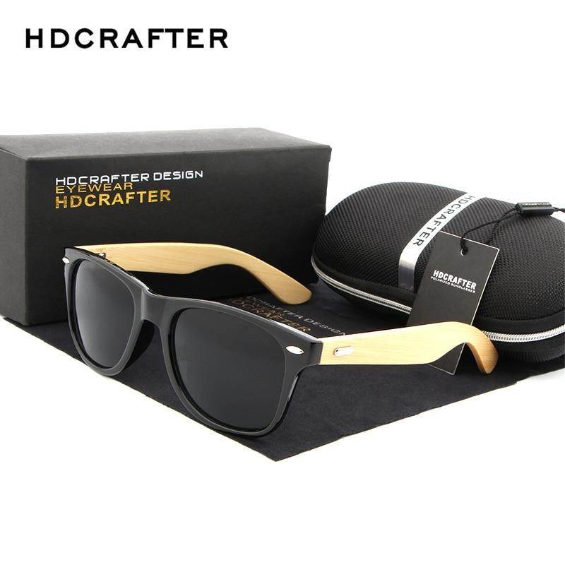 HDCRAFTER Retro Herren Sonnenbrille Holz Bambus Sonnenbrille Für Frauen Marke Design Holz Brille Sonnenbrille 16 Farben zur Auswahl