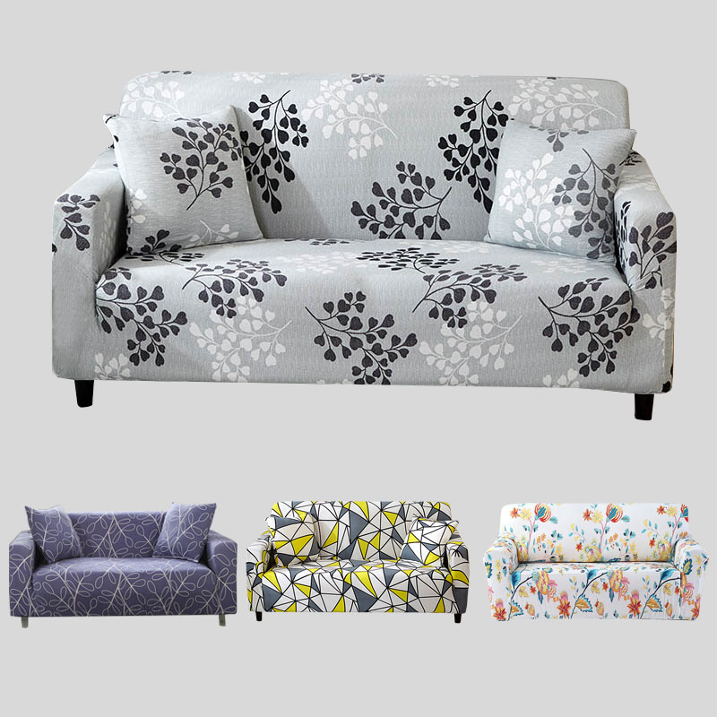 US $16.59 44% OFF|Gray Sofa Cover Stretch Furniture Covers Elastic Sofa  Covers For Living Room Slipcover sofa seat cover spandex couch 1 4  seater-in ...