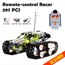 20033 397Pcs Technic The RC Track Remote control Racer Building Block children s toy birthday gift