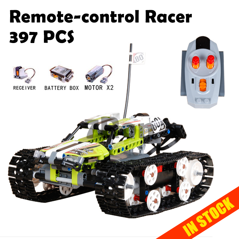 20033 397Pcs Technic The RC Track Remote-control Racer Building Block childrens toy birthday gift compatible with lego 42065