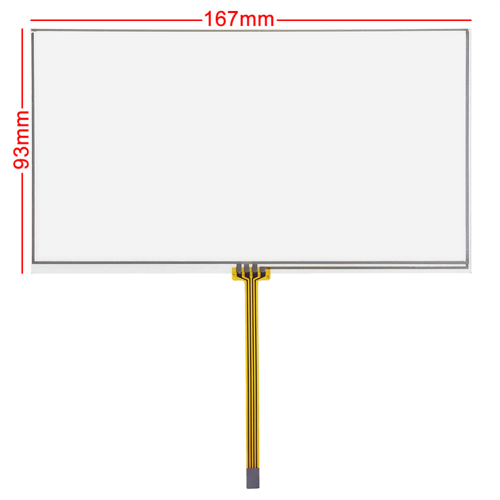 New 6.95 Inch 4 Wires For 167*92mm Resistive Touch Screen Panel Digitizer For TM070RDH01 167x93mm Display Size 155*80mm