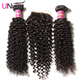 Top Quality 7A Brazilian Curly Virgin Hair with Closure UNice Hair Bundles with Lace Closures Brazilian Virgin Hair with Closure