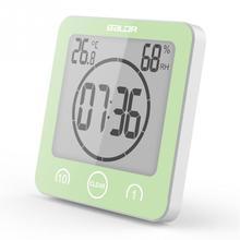 LCD Digital Wall Clock Digital Bathroom Clock Waterproof Shower Clock Timer Temperature Humidity Wall Shower Clock Kitchen Timer