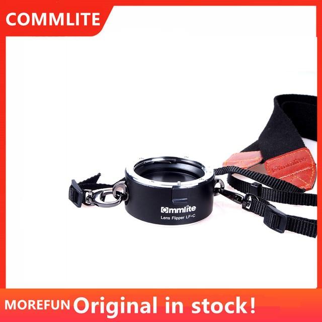 Commlite عدسة زعنفة مزدوجة عدسة حامل أداة تغيير سريعة مع حزام الحبل لكانون نيكون سوني E Mount