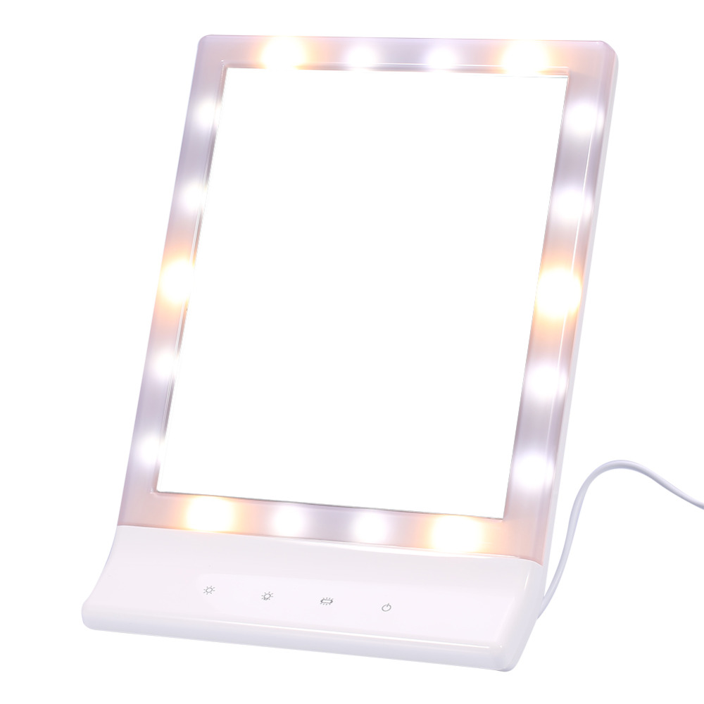 Touch screen makeup mirror 18 led lights beauty vanity for Beauty mirror