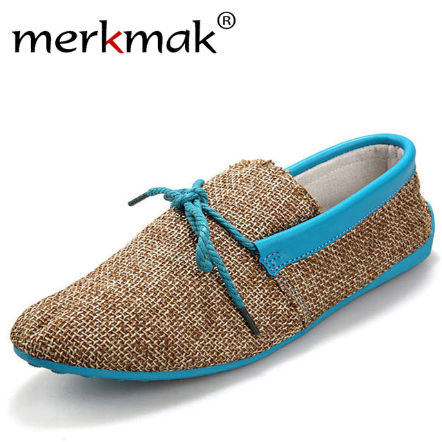 Hommes Weave Mocassins Chaussures plates Casual 9zcs2