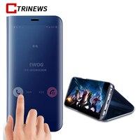 CTRINEWS Smart Blick Klar Spiegel Flip Fall Für Samsung Galaxy Note 8 S8 S7 Rand Luxus Standplatz-leder-abdeckung Anmerkung 8 Telefon fall