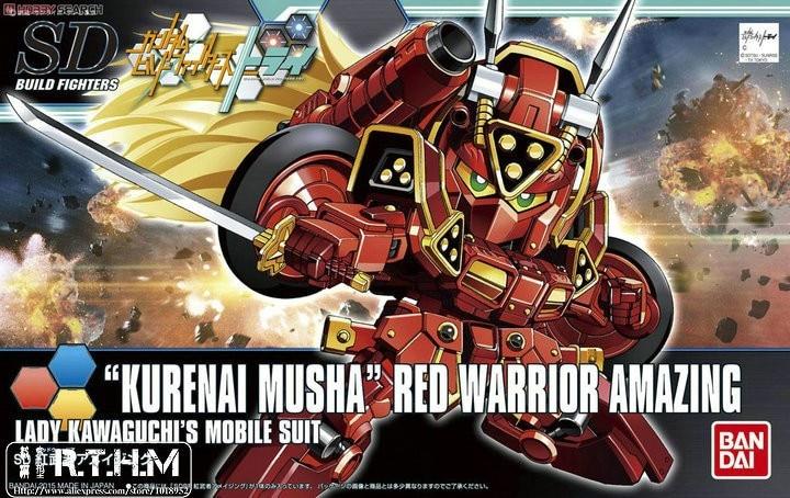 1PCS Bandai HG Build Fighters HGBF SDBF 041 SD BB Amazing Red Worrier Gundam Mobile Suit Assembly Model Kits Anime action figure bandai bandai gundam model sd q version bb 309 sangokuden wu yong bian xiahou yuan battle