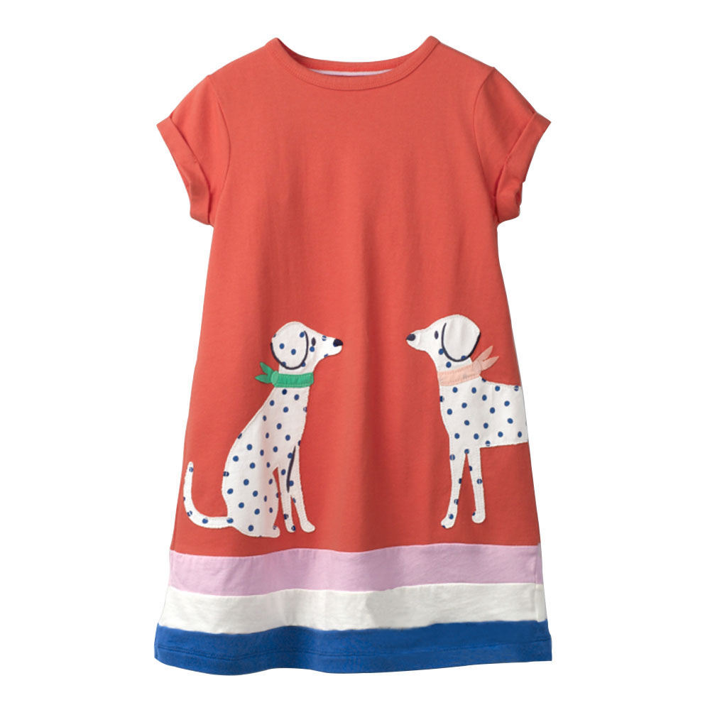 VIDMID girls short sleeve dresses girls cotton clothes summer floral dresses kids casual appliques striped dresses clothing W01 6