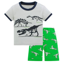 Летние пижамные костюмы для мальчиков; Синие пижамы; Детская