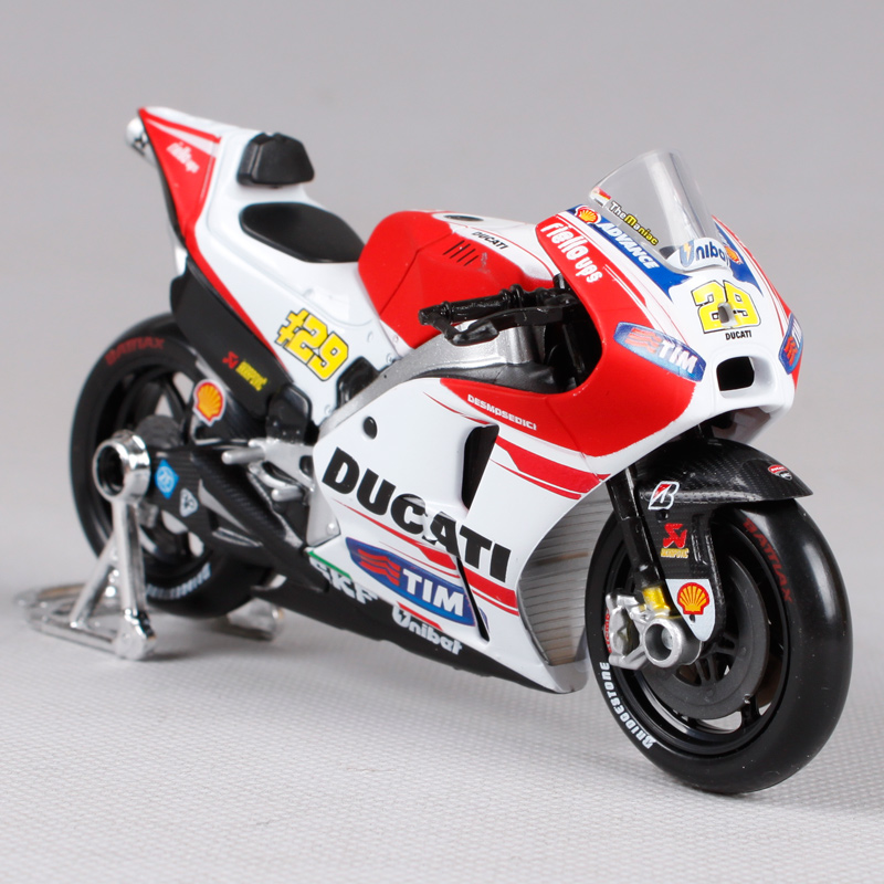 Maisto <font><b>1:18</b></font> Ducati motorcycle diecast for collection GP racing motorcycle <font><b>model</b></font> <font><b>car</b></font> diecasts for adult red small <font><b>car</b></font> <font><b>model</b></font> image