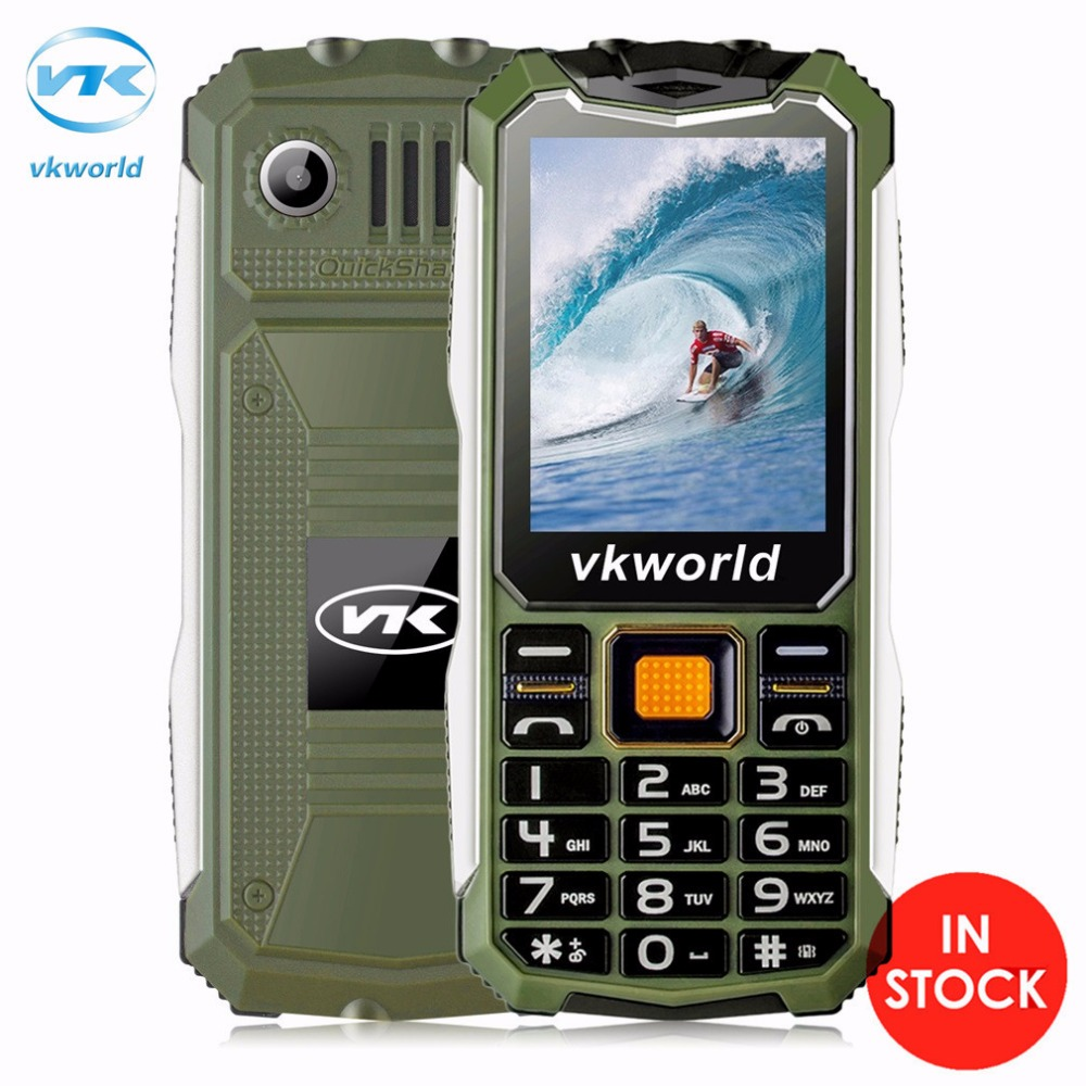 VKworld Stone V3S Mobile Phone 2.4 inch Dual SIM Slot Bluetooth Waterproof 21 Keys 2200mAh FM Cell Phone