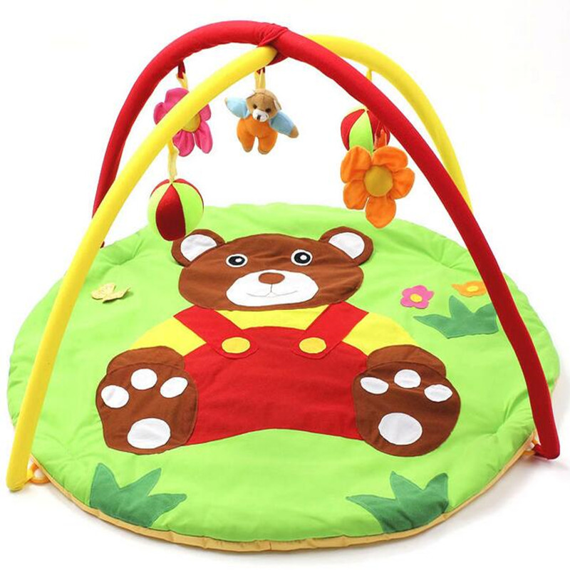 Baby Play Mats Brown Bear Baby Crawling Mats Baby Cushion 0-12 Months Baby Mats Gifts 95cm*95cm Toys Mat baby play mats brown bear baby crawling mats baby cushion 0 12 months baby mats gifts 95cm 95cm toys mat