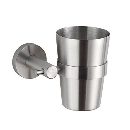 Aliexpress.com : Buy Bathroom Brushed Stainless Steel Tumbler Toothbrush  Holder Cup Bracket Set Wall Mounted From Reliable Tumbler Holder Suppliers  On Orhem ...