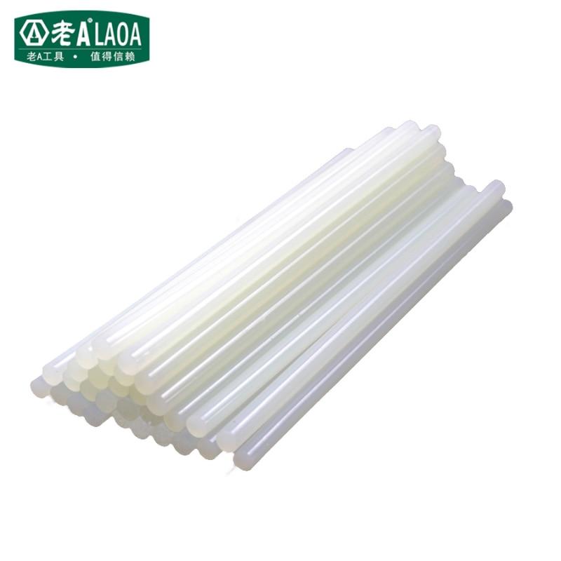 Laoa cola vara diâmetro 7mm/11mm quente melt cola vara comprimento profissional 145mm quente melt cola vara diy ferramentas de pasta