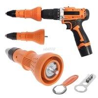 Electric Rivet Nut Gun Cordless Drill Riveting Insert Adaptors Tool Woodworkin S02 Drop Ship