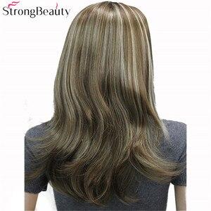 Image 3 - قوي الجمال طويل الاصطناعية متموجة الباروكة دون قلنسوة نصف السيدات 3/4 لمة مع عقال شعر مستعار
