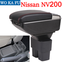 for Nissan NV200 armrest box universal car center console caja modification accessories double raised with USB