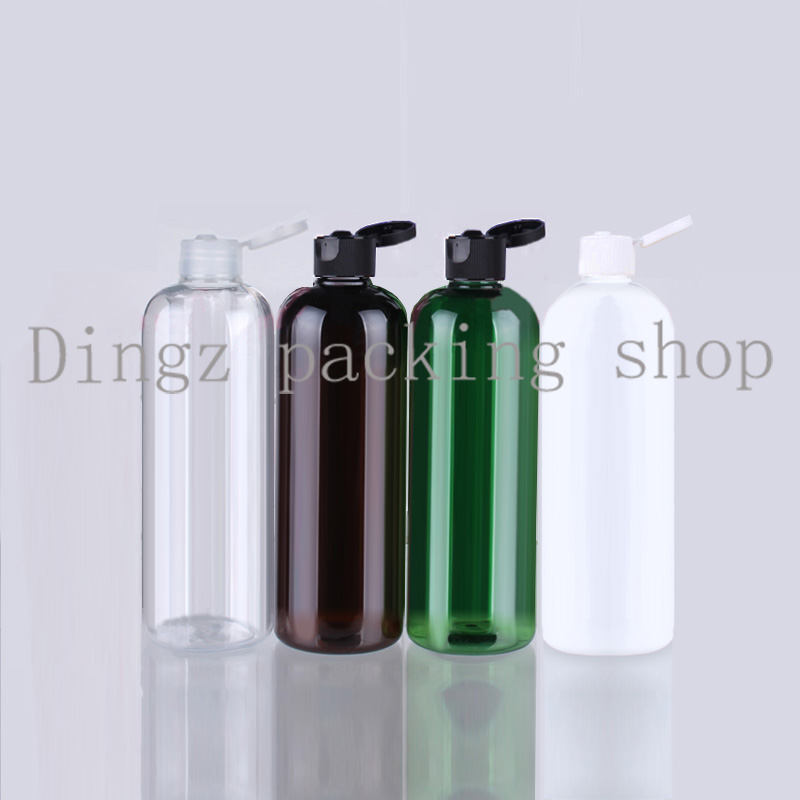 Flip Cap Perfume Bottle Make-up Toner Body Lotion Cosmetic Plastic Bottles 500ml Containers Pet Recycling Empty Bottle