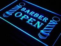 I044 Barbiere Polacchi Mostra Taglio di Capelli Segni di Luce On/Off Switch 20 + Colori 5 Formati