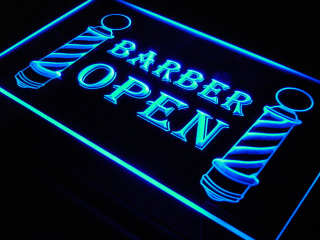 i044 Barber Poles Display Hair Cut Light Signs On/Off Switch 20+ Colors 5 Sizes