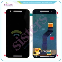 Wholesale Black LCD Display Touch Screen Digitizer Full Assembly For Huawei Google Nexus 6P Free Shipping