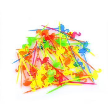 50 sztuk Flamingo wykałaczki bufet babeczki owoce widelec deser ciasto sałatka kije koktajl wykałaczka szpikulec zaopatrzenie firm tanie i dobre opinie PlumHOME CN (pochodzenie) Cake Decorating Supplies Z tworzywa sztucznego Forks lot (50 pieces lot) 0 041kg (0 09lb ) 10cm x 10cm x 10cm (3 94in x 3 94in x 3 94in)