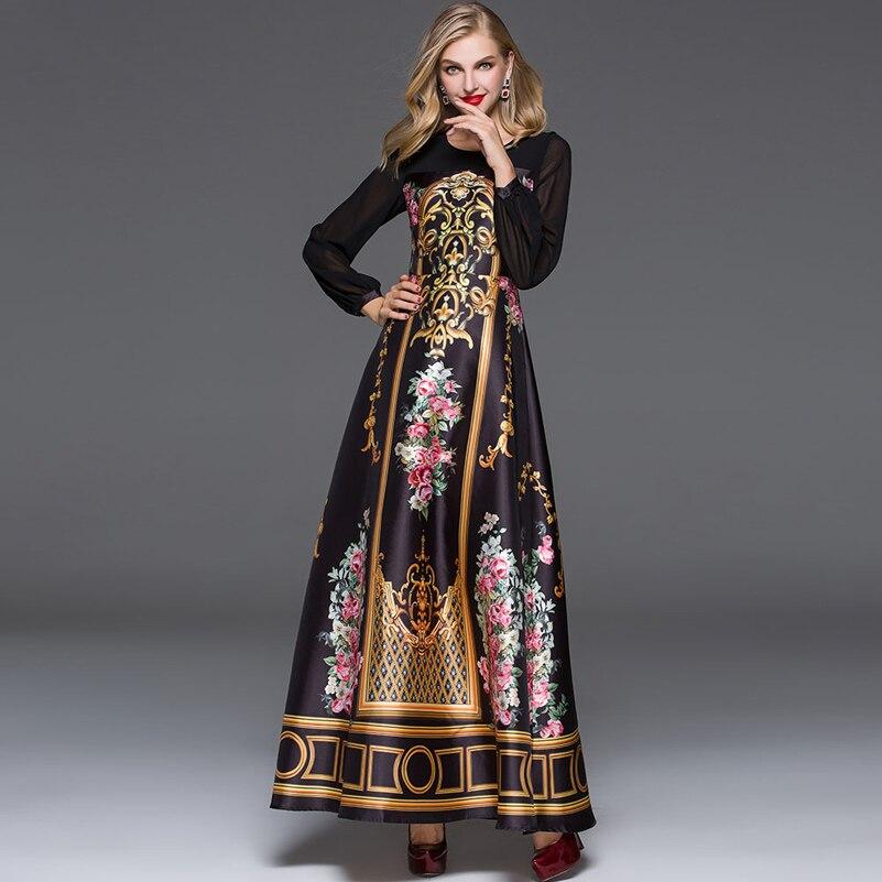 Elegant Designer Maxi Dress 2016 Կանանց տպագիր - Կանացի հագուստ - Լուսանկար 1