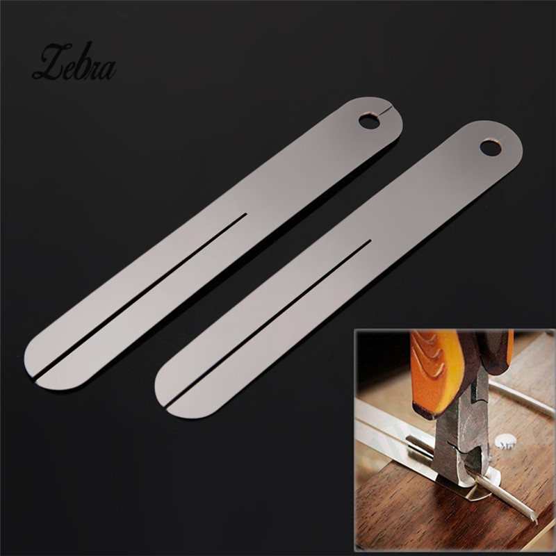 Zebra 2Pcs Fret Puller FretBoard Fingerboard Fret Repair Tool Protector Steel Plate For Electric Guitar Bass Parts Accessories zebra page 2