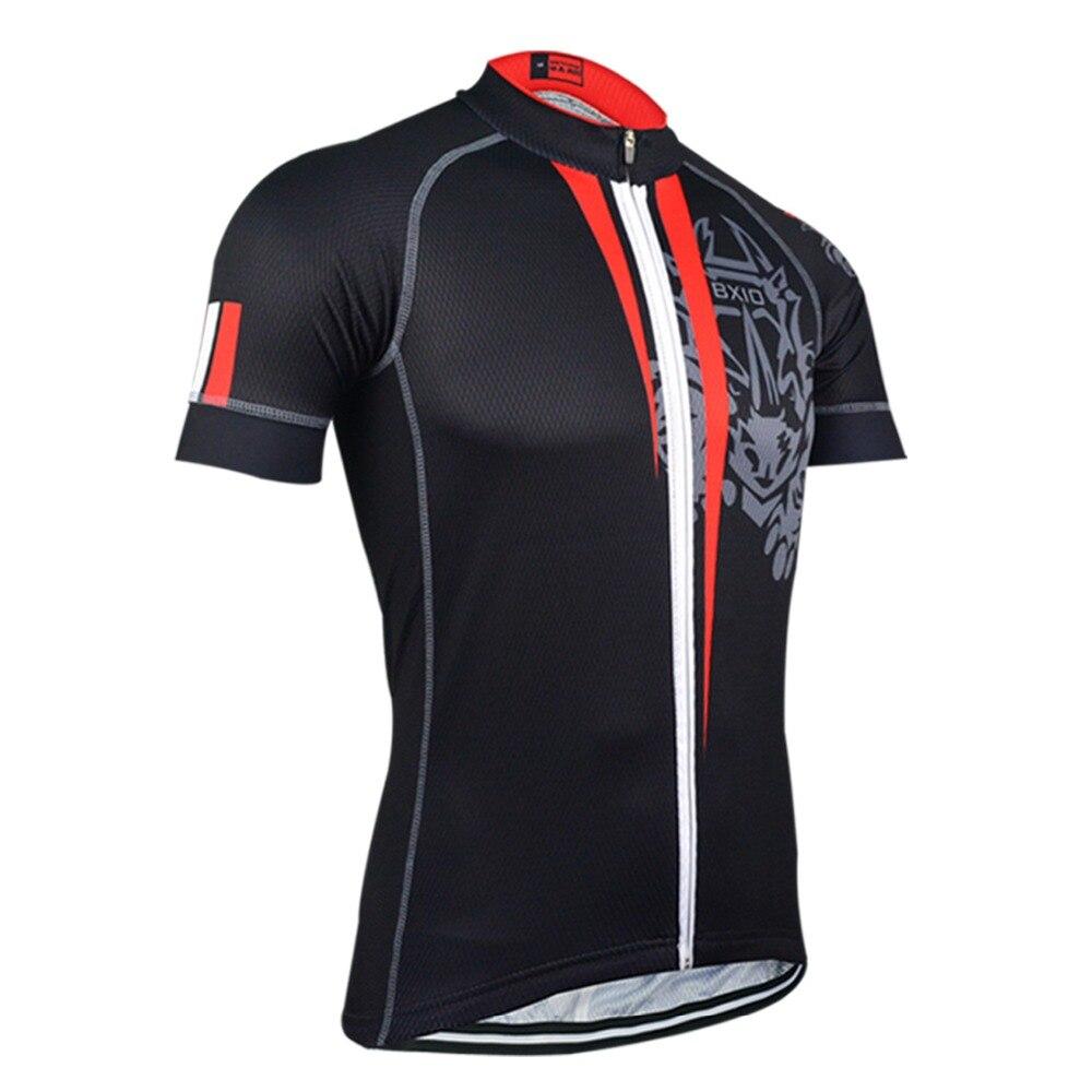Original BXIO qualité noir Pro équipe cyclisme maillots à manches courtes séchage rapide complet Zipper vélo maillot été Ropa Ciclismo BX-130
