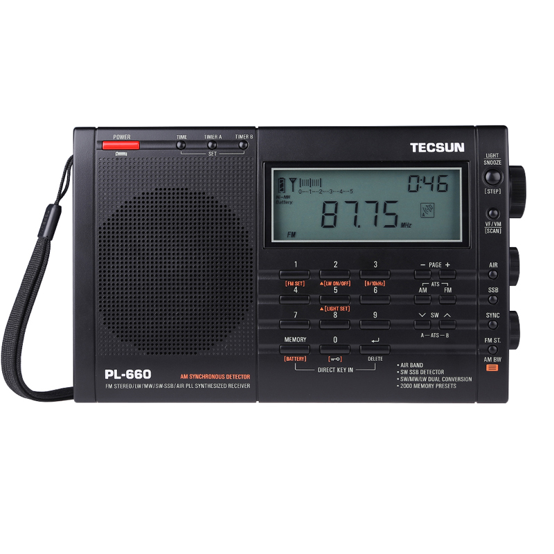 Tecsun PL 660 Portable High Performance Full Band Digital Tuning Stereo Radio FM MW SW LW