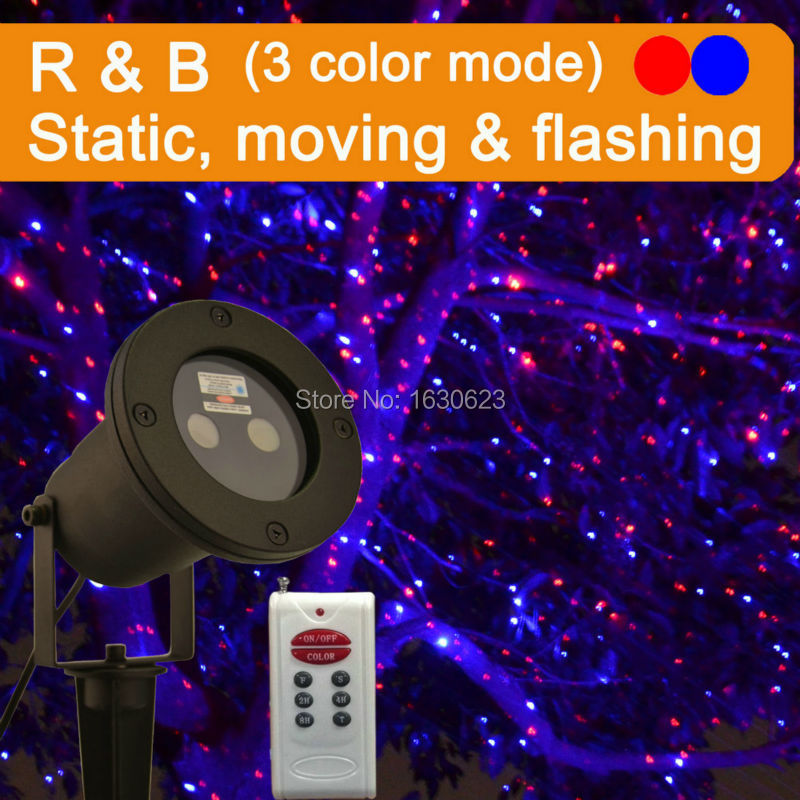 Red Blue Firefly Christmas Laser Stars Light Show Star Projector Outdoor Shower