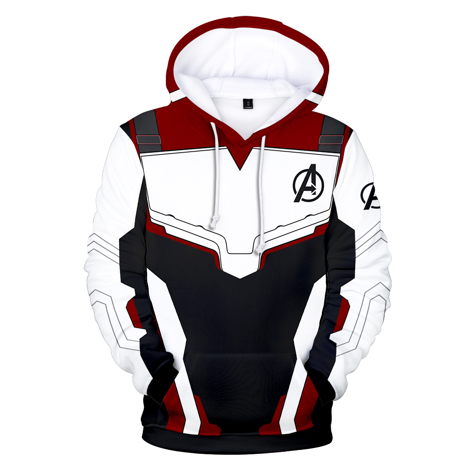 Avengers Endgame Quantum Realm Sweatshirt with hooded Advanced Tech Hoodie Cosplay Costumes 2019 new superhero Iron Man Hoodies