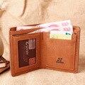 Alta calidad de moda hombres carteras PU cartera de cuero hombres diseñador delgada billetera con tarjeta de crédito cartera verticales para hombre