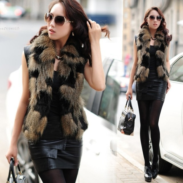 Low Price!!!2016 Autumn Spring and Winter Women High Imitation Faux Fox Fur Vest Gilet Outerwear Women's Coats 22