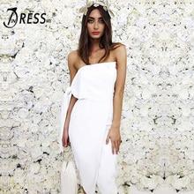 INDRESSME Elegant Solid White Spring Women Party Dress Sexy Off Shoulder Slash Neck Backless Mini Bodycon Women Dress Vestidos