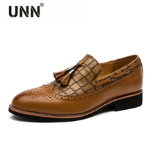 Elegant Men Brogue Delicate Fashion Driving Shoes Men Footwear Oxford Businessmen Red Dress Formal Occasion Party Graduation