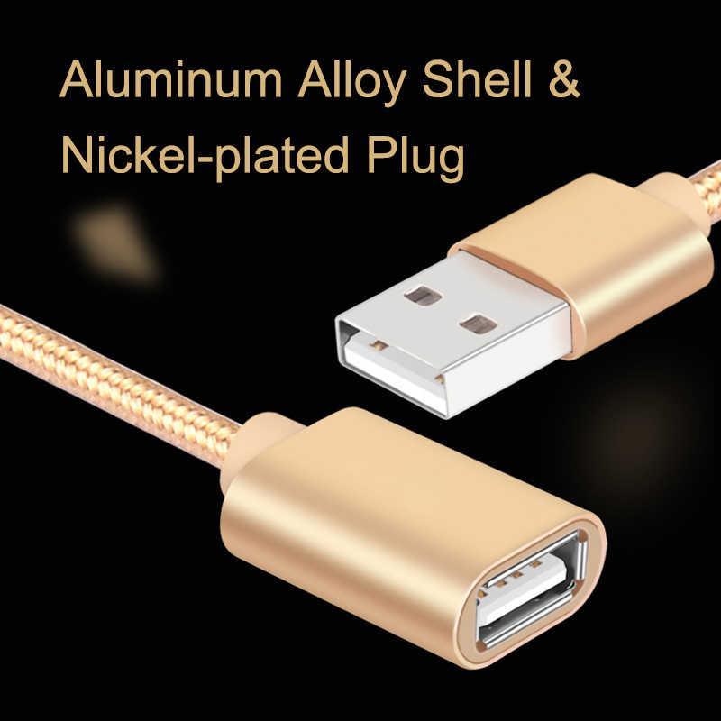 EGRINCY USB 2.0 câble d'extension haute vitesse mâle à femelle USB 2.0 câble d'extension données synchronisation cordon câble transfert pour PC ordinateur portable TV