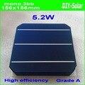 5.21 Вт + + 156 мм монокристаллический Моно солнечных батарей 6x6 + достаточно П. В. Лента (50 м вкладка Провода + 5 м Шин) + 1 шт. flux pen для DIY 260 Вт PV Панели
