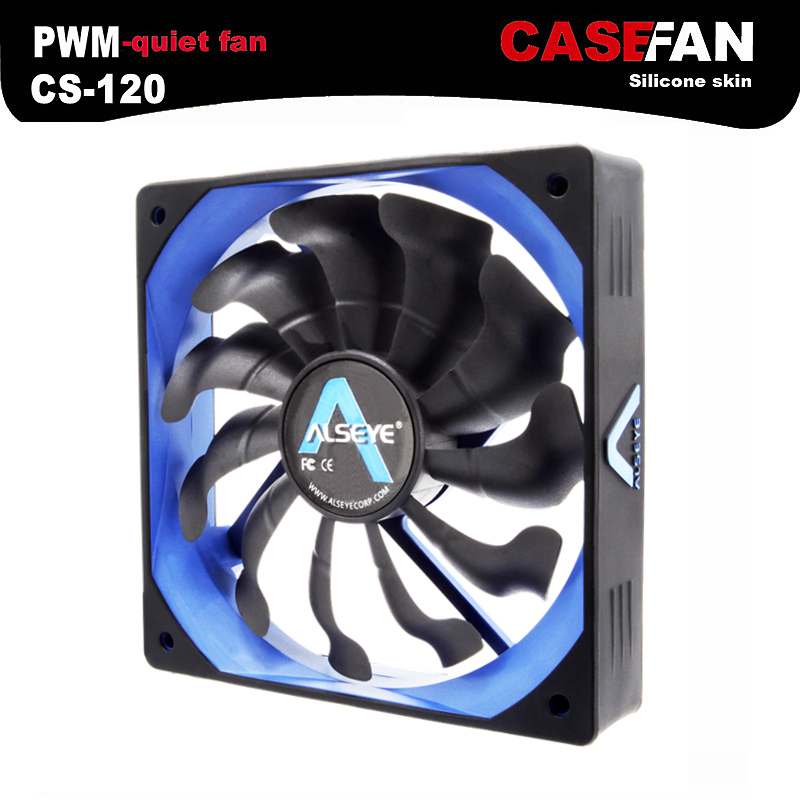 ALSEYE Cooler Fan for Computer, 120mm PWM 4pin Fan for CPU Cooler / Radiator / PC Case, 12V 500-2000RPM Silent Cooling Fans computer cooler radiator with heatsink heatpipe cooling fan for hd6970 hd6950 grahics card vga cooler